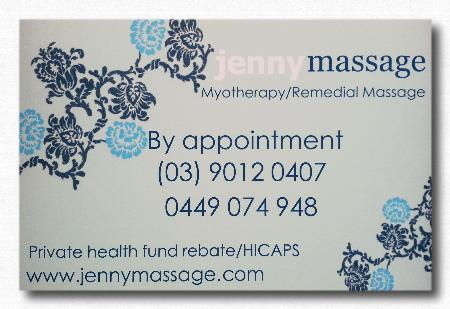 Jenny Massage & Myotherapy
