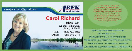Carol Richard - REALTOR - Slidell, LA 70458 - (985)774-1159   ShowMeLocal.com