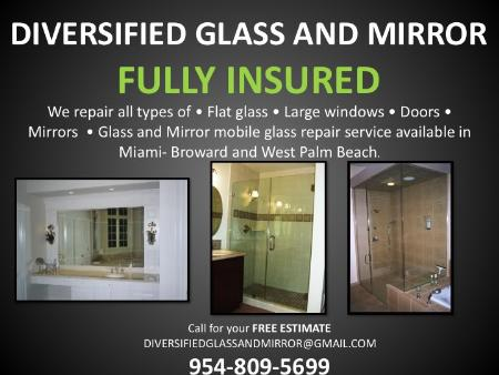 Diversified Glass And Mirror - Pompano Beach, FL 33067 - (954)809-5699 | ShowMeLocal.com