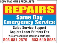 Copy Machine Specialists-CMS - Beaverton, OR 97006 - (503)649-5983 | ShowMeLocal.com