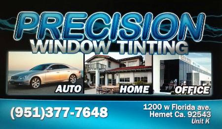 Precision Window Tinting - Hemet, CA 92544 - (951)663-4075 | ShowMeLocal.com