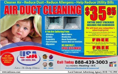 Usa Air Care Pasadena Ca 91107 888 439 3003
