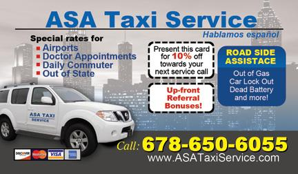Asa Taxi Service - Atlanta, GA 30096 - (678)650-6055 | ShowMeLocal.com
