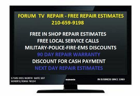 Forum TV Repair - Schertz, TX 78154 - (210)421-7815 | ShowMeLocal.com