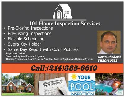 101 Home Inspection Services - Allen, TX 75013 - (214)385-6610 | ShowMeLocal.com