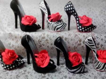 Decor high heels filled with seasonal flowers of your choice. Four Seasons Florist Wigan 01942 523122