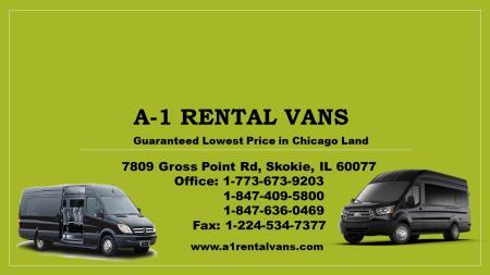A1 Rental Vans - Skokie, IL 60077 - (773)673-9203 | ShowMeLocal.com