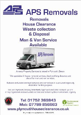 APS Removals and Clearances - Plymouth, Devon PL5 2RE - 01752 369843 | ShowMeLocal.com