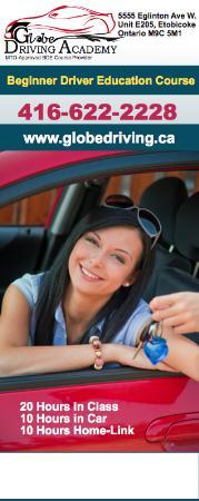 Globe Driving Academy Etobicoke - Toronto, ON M9C 5M1 - (416)622-2228 | ShowMeLocal.com