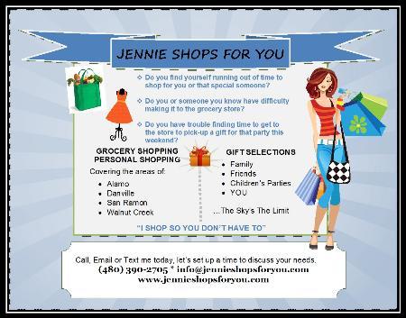 Jennie Shops For You - Alamo, CA 94507 - (480)390-2705 | ShowMeLocal.com