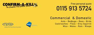 Confirm-A-Kill - Nottingham, Nottinghamshire NG5 6HN - 01159 135724 | ShowMeLocal.com
