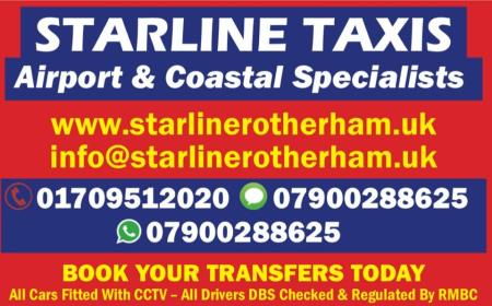 Starline Taxis - Rotherham, South Yorkshire S62 5PU - 01709 512020 | ShowMeLocal.com