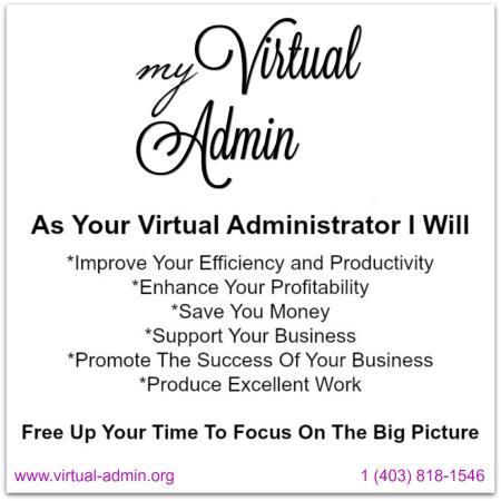 My Virtual Admin Calgary (403)818-1546