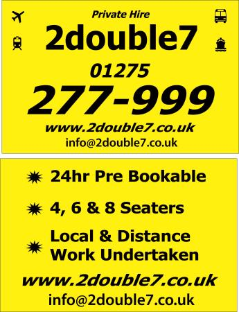 2Double7 Private Hire Taxi & Minibus Transfers - Bristol, Bristol BS20 6NN - 01275 277999 | ShowMeLocal.com