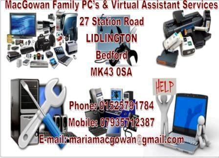 MacGowan Family PC's & Virtual Assitants - Bedford, Bedfordshire MK43 0SA - 01525 791784 | ShowMeLocal.com