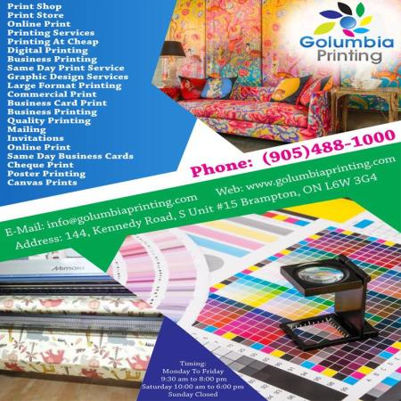 Golumbia Printing Cheap Printing At Mississauga - Brampton, ON L6W 3G4 - (905)488-1000 | ShowMeLocal.com