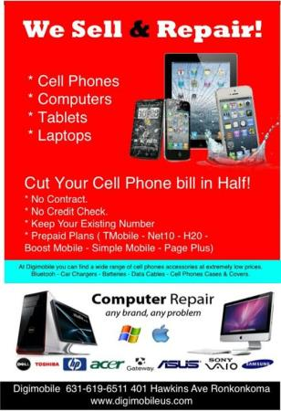 Digimobile - Computer Cell Phone Repair - Ronkonkoma - Lake Ronkonkoma, NY 11779 - (631)619-6511 | ShowMeLocal.com