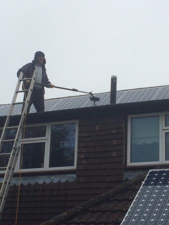 Solar panel cleaning Action Window Cleaning Limited Eastleigh 07795 006655