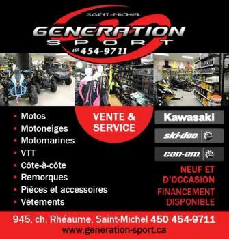 Génération Sport - Saint-Michel, QC J0L 2J0 - (450)454-4971   ShowMeLocal.com