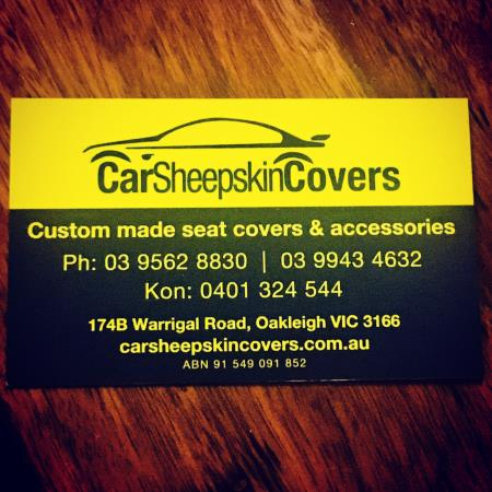 Car Sheepskin Covers