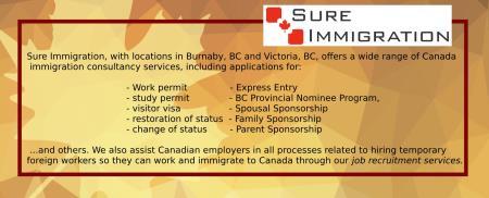 Sure Immigration Ltd - Burnaby, BC V5H 4H2 - (877)396-6908   ShowMeLocal.com