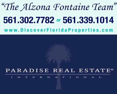 visit www.thealzonafontaineteam.com to search real estate listings throughout palm beach county, martin county, st lucie county and south florida! Alzona Fontaine Team At Paradise Real Estate International Jupiter (561)302-7782