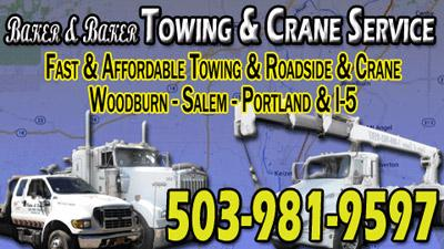 Baker & Baker Towing & Crane Services - Woodburn, OR 97071 - (503)981-9597 | ShowMeLocal.com