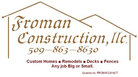 Froman Construction Llc - Chelan, WA 98816 - (509)863-8630 | ShowMeLocal.com