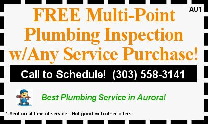 Free Multi Point Plumbing Inspection with Any Service Purchase