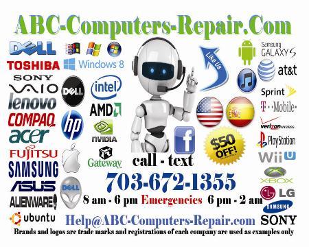 ABC Computers Repair - Alexandria, VA 22303 - (703)672-1355 | ShowMeLocal.com