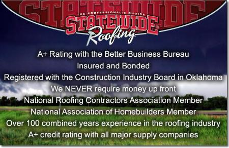 STATEWIDE ROOFING - Oklahoma City, OK 73135 - (405)790-0109 | ShowMeLocal.com