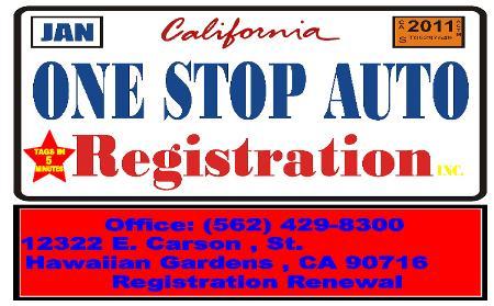 One Stop Auto Registration - Hawaiian Gardens, CA 90716 - (562)429