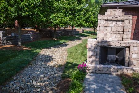 Hardscape options available to address fireplace needs and erosion control needs. Cason Builders Supply East Flat Rock (828)692-5716