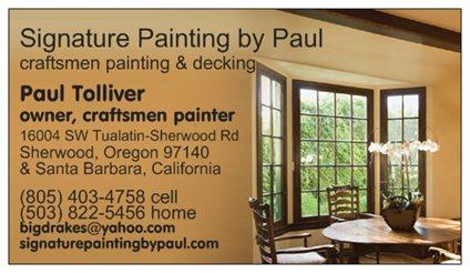 SIGNATURE HOME PAINTING & DECK REFINISHING by                       PAUL ANTHONY - Sherwood, OR 97132 - (805)403-4758 | ShowMeLocal.com