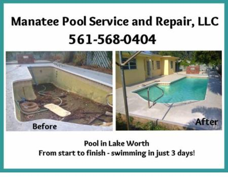 Manatee Pool Service & Repair, LLC - Palm Springs, FL 33461 - (561)568-0404 | ShowMeLocal.com