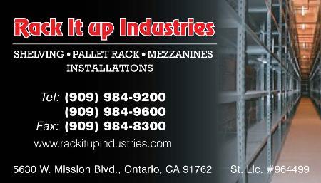Rack It Up Industries,Llc - Ontario, CA 91762 - (909)984-9200 | ShowMeLocal.com