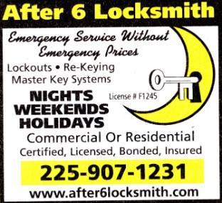 After 6 Locksmith - Baton Rouge, LA 70806 - (225)907-1231 | ShowMeLocal.com
