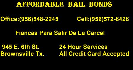 AFFORDABLE BAIL BONDS - Brownsville, TX 78520 - (956)548-2245 | ShowMeLocal.com
