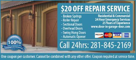 24 Hour Garage Door Service - Richmond, TX 77407 - (281)845-2169 | ShowMeLocal.com