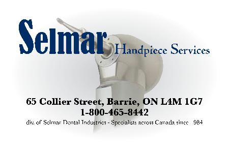 Selmar Handpiece Services  div of Selmar Dental Ind. - Barrie, ON L4M 1G7 - (705)739-8800 | ShowMeLocal.com