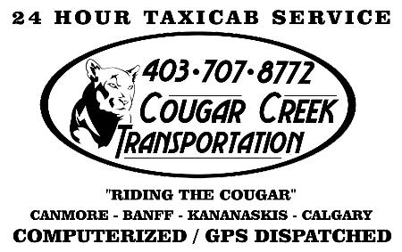 Cougar Creek Taxi - Canmore, AB T1W 3E9 - (403)707-8772 | ShowMeLocal.com