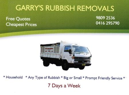 Garry's Rubbish Removals - Ryde, NSW 2112 - 0416 295 790   ShowMeLocal.com