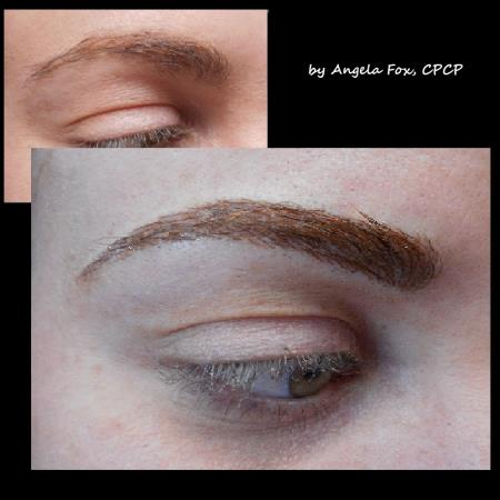 microblading hair stroke brows microblade or micro-hairstroke brows are artistically applied to mimic the appearance of natural hair in the brow. microblading is the perfect solution for men and women who may have a sparse areas or a scar in need of camouflage.  RX Beauty Inks Permanent Makeup and Academy Houston (281)795-0130