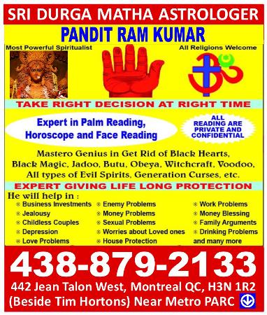 Psychic Indian Astrologer & Palm Reader - Montreal, QC H3N 1R2 - (514)497-5872 | ShowMeLocal.com
