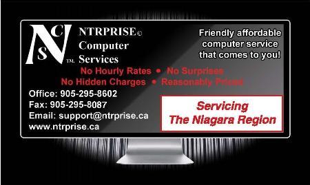 NTRPRISE Computer Services - Niagara Falls, ON L2G 7K3 - (905)295-8602   ShowMeLocal.com