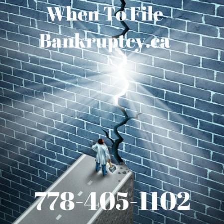 When To File Bankruptcy - Victoria, BC V8V 3K8 - (778)402-1120   ShowMeLocal.com